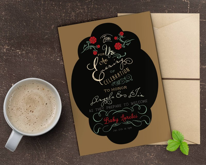 Custom Baby Shower Invitation Design