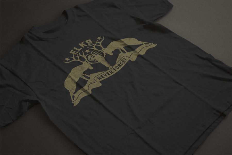 custom patriotic t shirt design gold