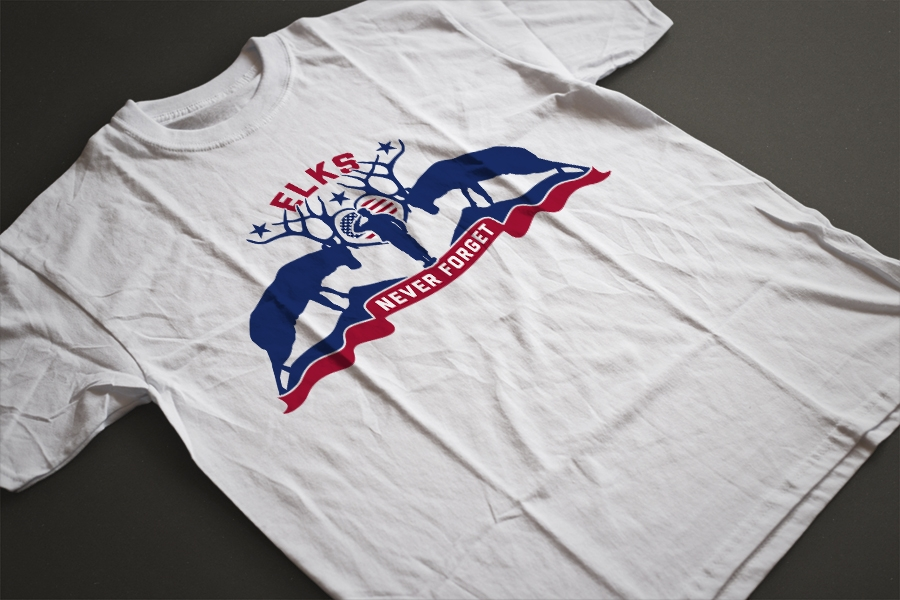 Elks lodge custom t shirt design