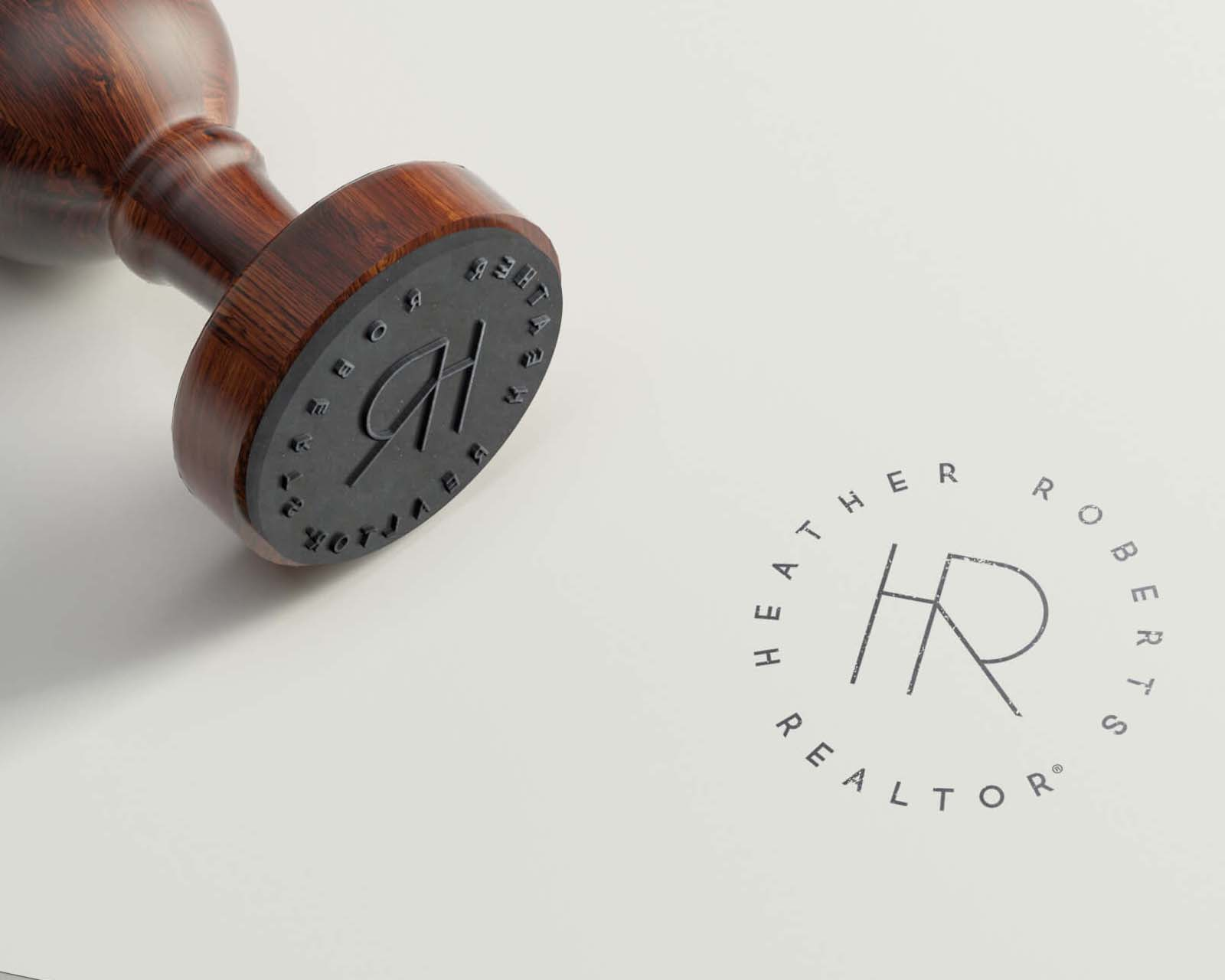 Realtor Logo by Jen Rhodes Creative Hero San Marcos Texas