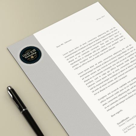 Brand Identity Package custom letterhead